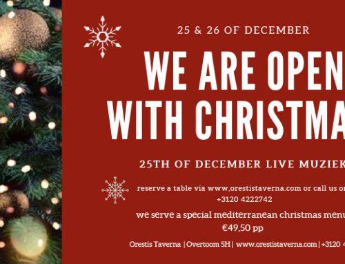 We zijn open tijdens de kerstdagen